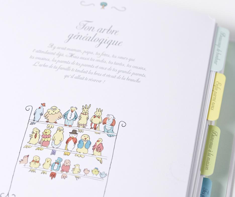 Le journal de mon bébé, livre à remplir, pop up, illustration Aurélie Castex